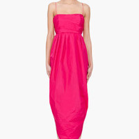 Carven Long Fuchsia Dress for women | SSENSE