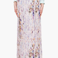 A.L.C. Multicolor Silk Maxi Skirt for women | SSENSE