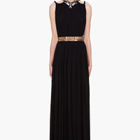 Lanvin Black Maxi Halter Dress for women | SSENSE