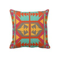 Neo Native Tribal Pillow from Zazzle.com