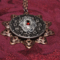 Locked time steam punk necklace by caitlinjohns on Etsy