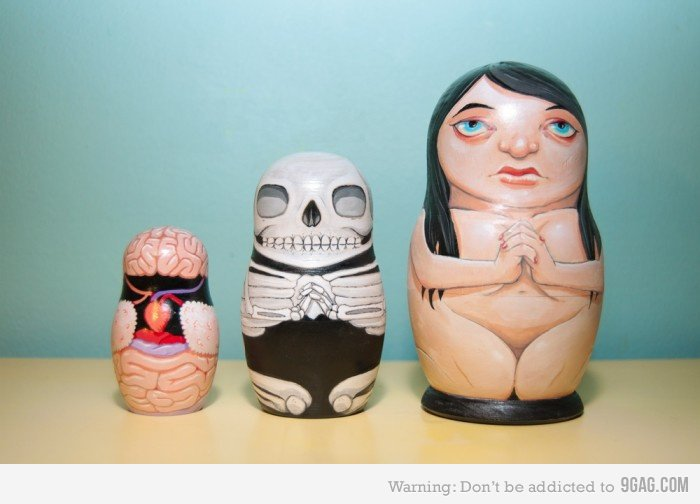 9GAG - Anatomical nesting dolls