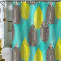 DENY Designs Home Accessories | Aimee St Hill Big Leaves Blue Shower Curtain