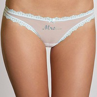 "Betsey Johnson ""Mrs"" Sheer Embossed Thong - Women's - Bloomingdales.com"