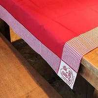 red heart tablecloth by through the cottage door | notonthehighstreet.com