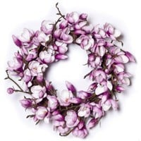 Fuchsia Magnolia Wreath (24 Inches)