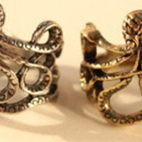 vintage Steampunk bronze Octopus ring by qizhouhuang on Etsy