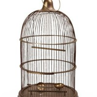 One Kings Lane - Eddie Ross - Large Brass Bird Cage, C. 1960