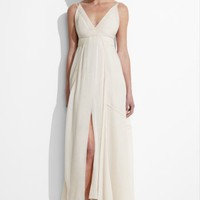 BCBGMAXAZRIA - <BR> SHOPS: DRESSES: MAX AZRIA GAUZE SLIP DRESS