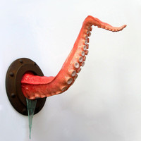 Steampunk Wall Tentacle by ArtAkimbo on Etsy