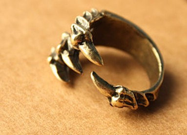 steampunk eagle claw adjustable ring by qizhouhuang on Etsy