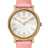 Women's Timex Round Patent Leather Strap Watch, 33mm