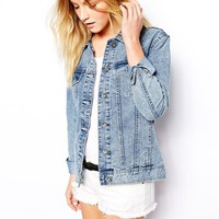 New Look Oversized Acid Wash Denim Jacket