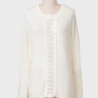 St. Helena Crochet Detail Sweater