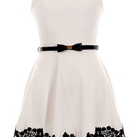 Pretty Lady Dress | A-Line White Black Lace Daytime Dresses | Rickety Rack