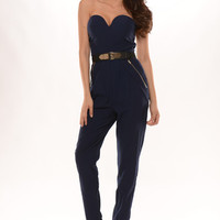 Hug Me Jumpsuit - Navy | Fashion Nova