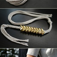 DIY: braided hex nut bracelet