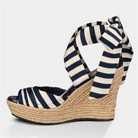 UGG® Australia Lucianna Striped Espadrille Platform Wedge EXTENDED SIZES AVAILABLE at Von Maur