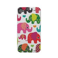 Colorful elephant kids pattern iphone case iphone 4 covers from Zazzle.com
