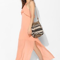 Pins And Needles Ruffle-Top Halter Maxi Dress - Urban Outfitters