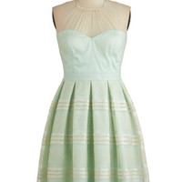 ModCloth Pastel Long Halter A-line Spellbindingly Superb Dress