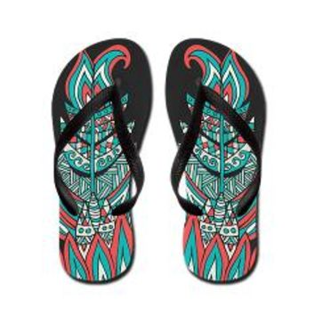 A Romantic Feather Flip Flops> Pom Graphic Design