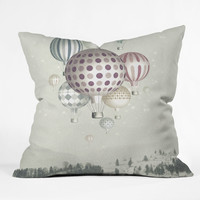 DENY Designs Belle13 Winter Dreamflight Polyester Throw Pillow | AllModern