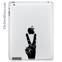 Peace Sign Hand | iPad Decals | The Decal Guru