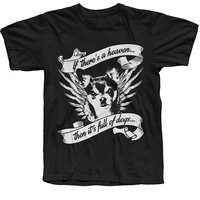 "Men's ""If There's a Heaven"" Tee by The T-Shirt Whore (Black)"