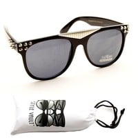 W217-vp Metal Studded Spike Wayfarer Gangster Sunglasses