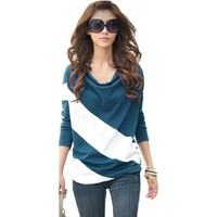 Hee Grand Women Color-Contrasted Loose T-Shirt