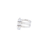 double spell ring | sterling silver