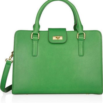J.Crew Edie Attaché leather tote