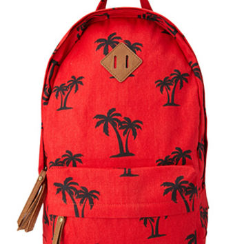 Palm Frenzy Canvas Backpack