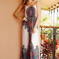 Thea Printed Maxi Dress