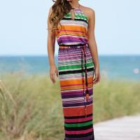 Halter stripe maxi dress from VENUS