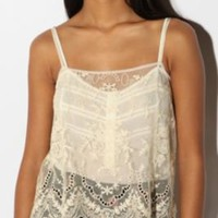 UrbanOutfitters.com &gt; Kimchi Blue Embroidered Lace Cami
