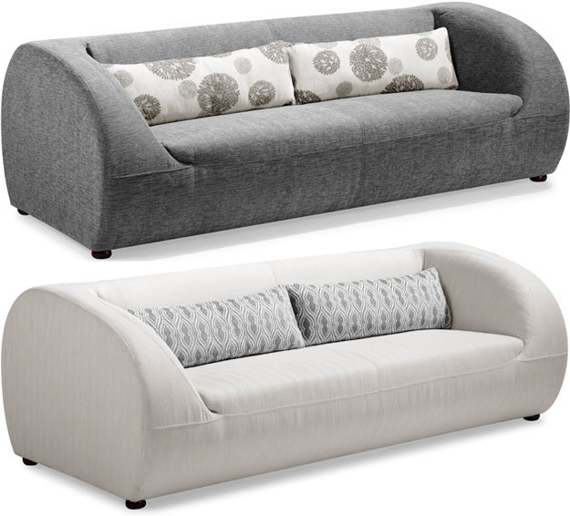Chance Sofa in Grey or Beige Microfiber Fabric - Pure Modern Design Contemporary Furniture