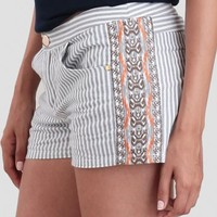 Roaming Barcelona Striped Shorts