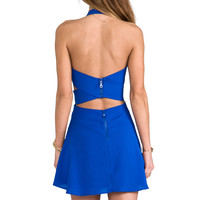 Naven x REVOLVE Criss Cross Cut Circle Skirt Dress in Blue