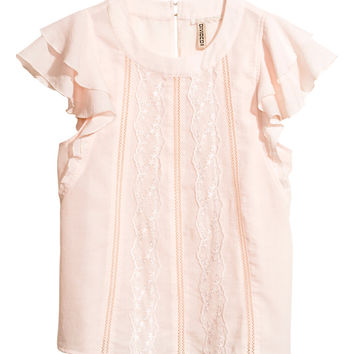 H&M Blouse with lace 14,95 €