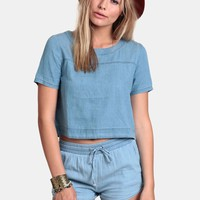 Strike Out Chambray Top