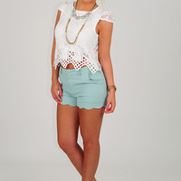 Laced And Found Top: White