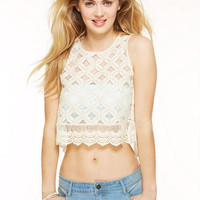 Open-Back Lace Top -