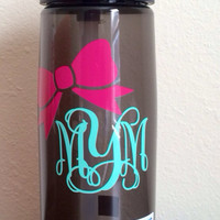 LOWEST PRICE Monogramed Bow Camelbak Water Bottle