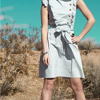 Light Grey poplin Dress