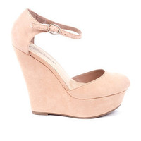 Cilo Round Toe Wedges in Blush :: tobi