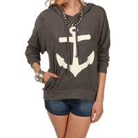 Charcoal/Ivory Anchor Sweatshirt