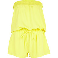 Yellow bandeau waisted playsuit - caftans / cover-ups - swimwear / beachwear - women