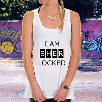 i am sherlocked for men,women,tank top